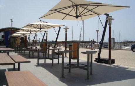 cantilever parasol terrace garden