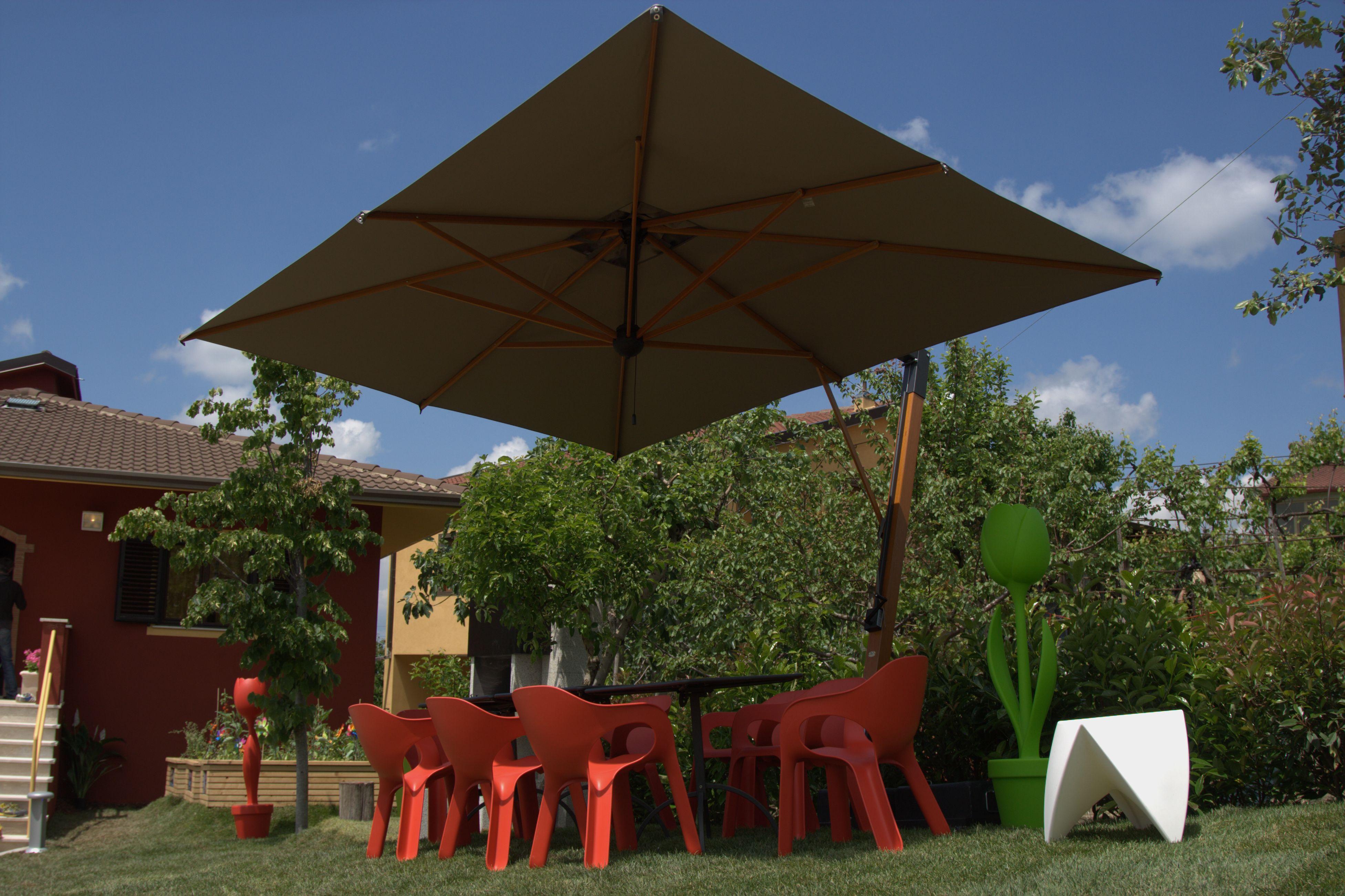 palladio braccio 3x4 taupe scolaro parasol ombrelloni da giardino
