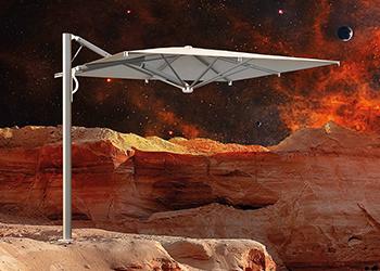 Gas-spring retractable parasols