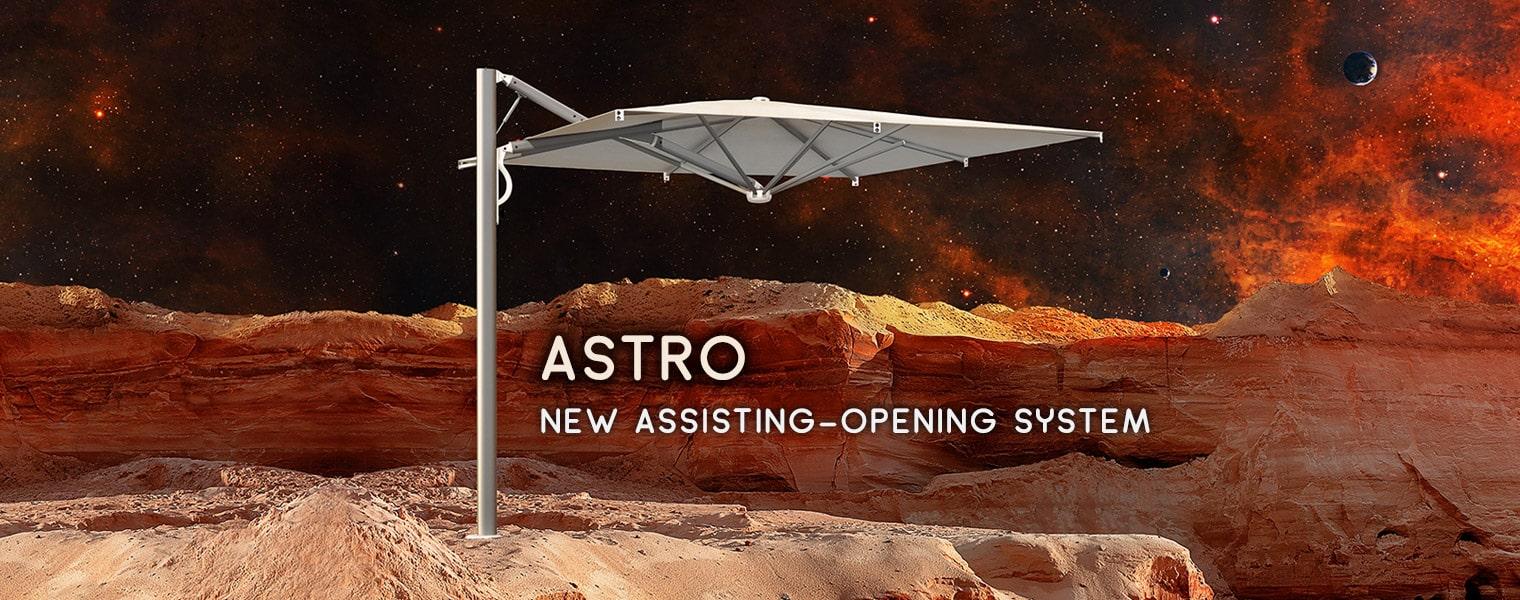 Astro Spacegray parasol